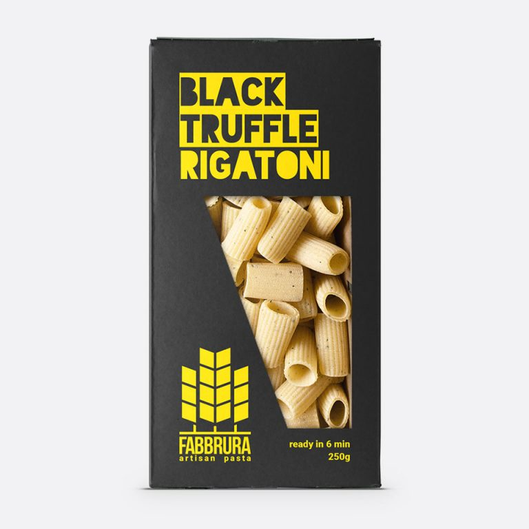 Fabbrura's Black Truffle Rigatoni Packaging