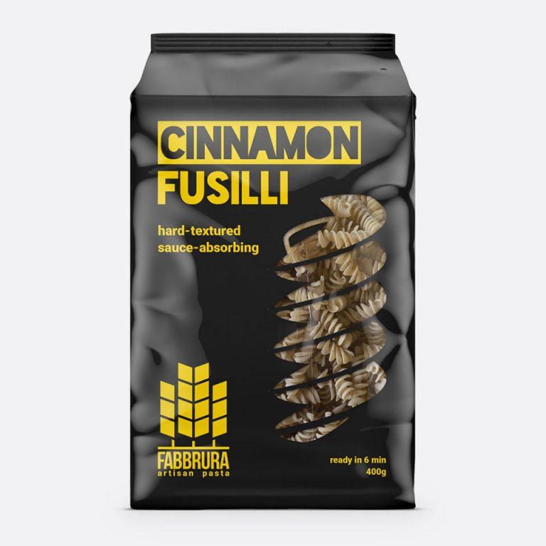 Fabbrura's Cinnamon Fusilli Packaging